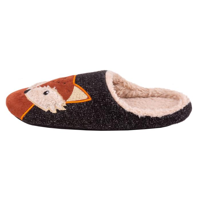 totes Mens Novelty Mule Slipper Fox