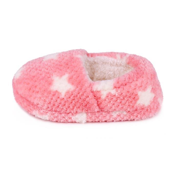totes Childrens Fleece Full Back Slipper Pink