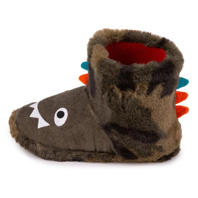 totes Childrens Novelty Booties Slippers Dinosaur