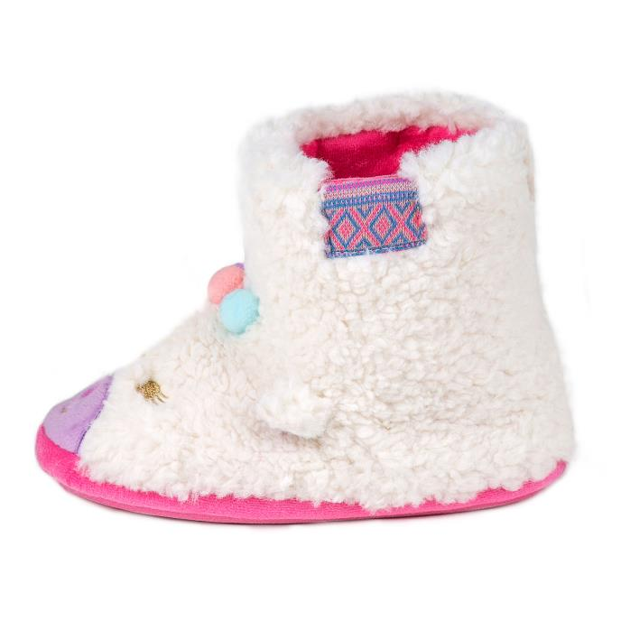 totes Childrens Novelty Booties Slippers Llama