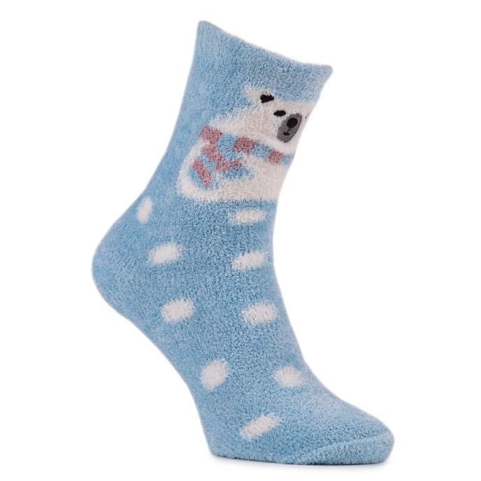 totes Ladies Novelty Cosy Slipper Socks Polar Bear