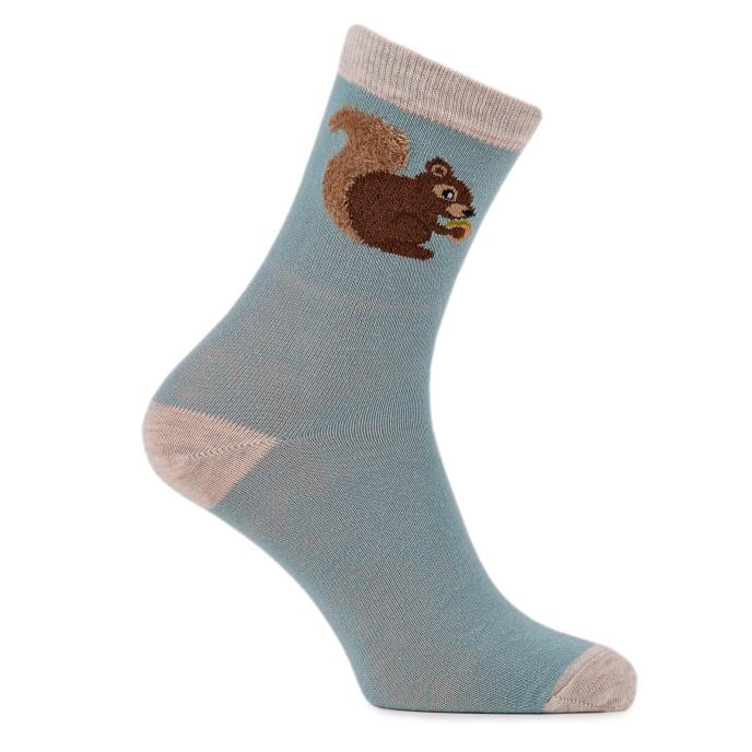 totes Ladies Single Day Sock Squirrel