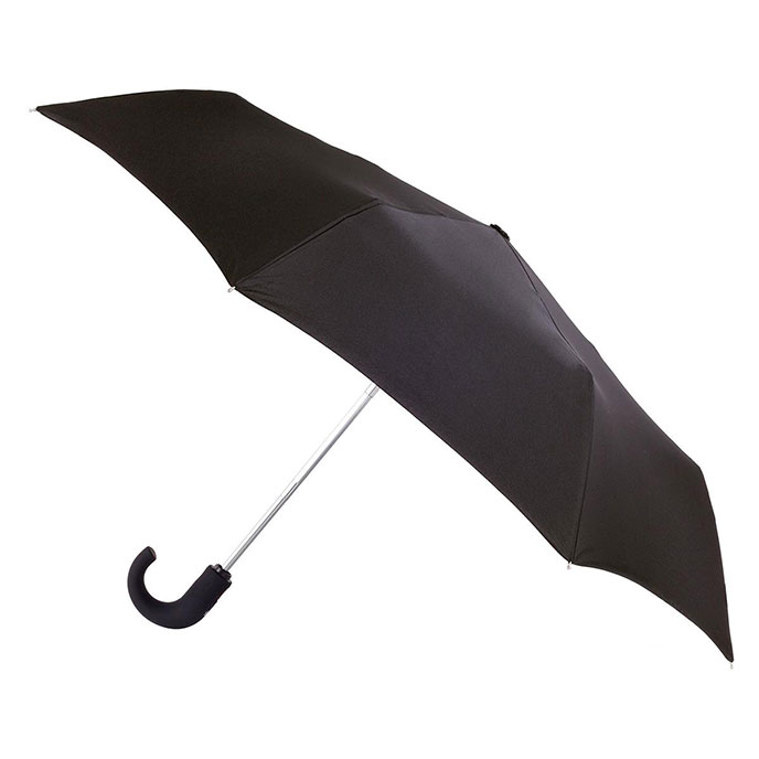 totes Wonderlight Auto Open/Close Crook Umbrella Black