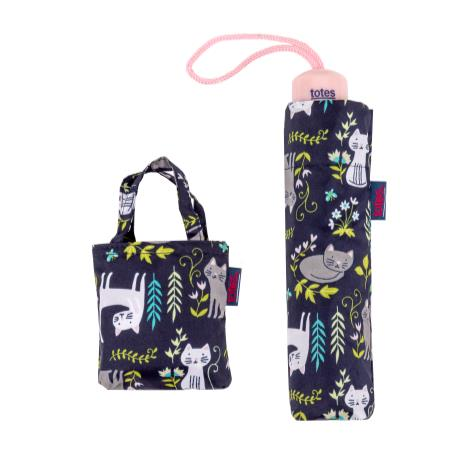 totes Supermini Cat Garden Umbrella & Matching Shopping Bag