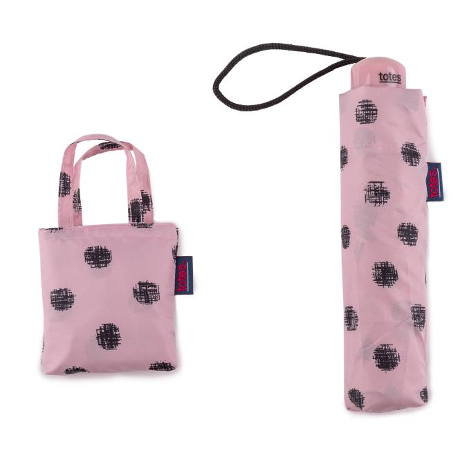 totes Supermini Stitched Dot & Matching Bag in Bag shopper