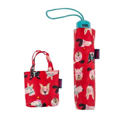 totes Supermini Allover Dog Umbrella & Matching Shopping Bag