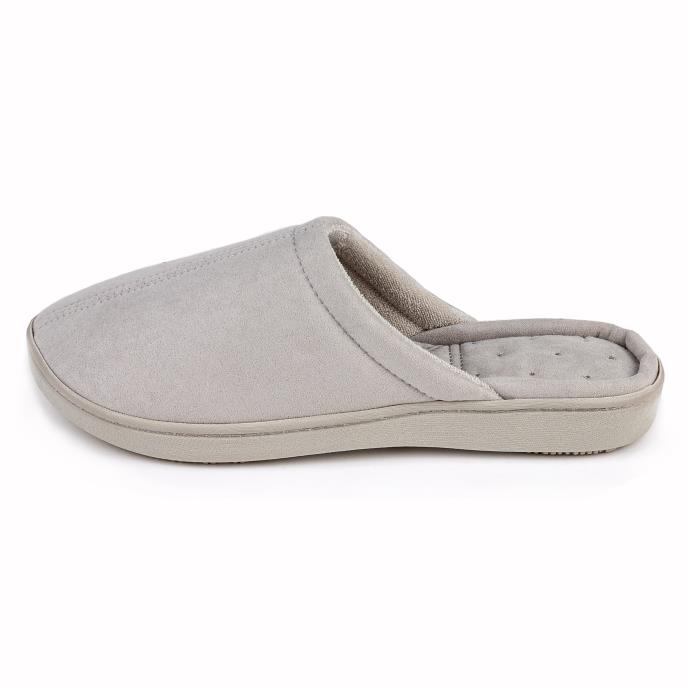 Isotoner Ladies Suedette Mule Slipper Grey