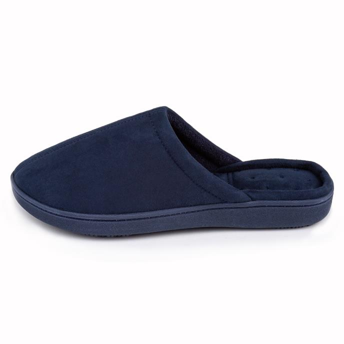 Isotoner Ladies Suedette Mule Slipper Navy