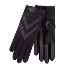 Isotoner Ladies Original Stretch Glove with Smartouch  Black