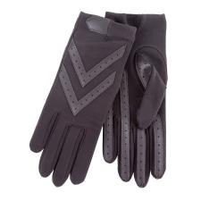 Isotoner Ladies Original Stretch Glove with Smartouch  Charcoal