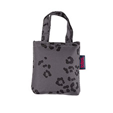 totes Grey Leopard Print Shopping Bag
