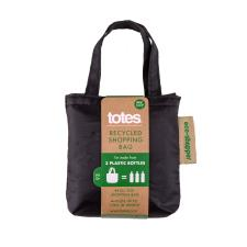 totes Eco Bag in Bag Shopper Plain Black