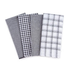 totes Mens 4 Pack Handkerchiefs Black/White