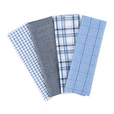 totes Mens 4 Pack Handkerchiefs Navy/White