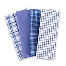 totes Mens 4 Pack Mens Handkerchiefs Blue
