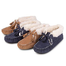 totes Bootie Moccasin Slippers with Tassle