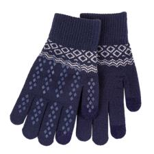 totes Ladies Original Smartouch Glove Navy Fair Isle