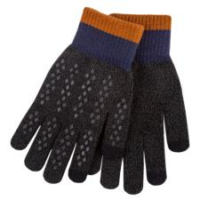 totes Mens Original Smartouch Gloves Charcoal