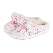 totes Cable Knitted Space Dye Mule Slippers