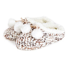 totes Ladies Bobble Knitted Mule Slippers