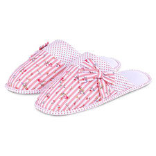 totes Stripe Mule Slippers with Spot Lining