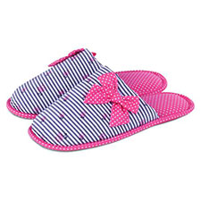 totes Spot and Stripe Mule Slippers