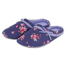 totes Spot Floral Stripe Lined Mule Slippers