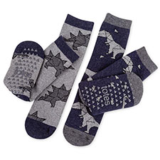 totes toasties Kids Novelty Slipper Socks (Twin Pack)