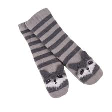 totes Childrens Chunky Slipper Socks Racoon