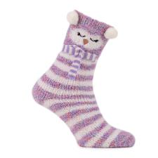 totes Ladies Twin Novelty Supersoft Socks Penguin/Spacedye