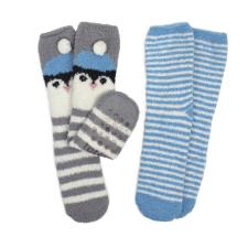 totes Ladies Novelty Twin Pack Supersoft Socks Penguin