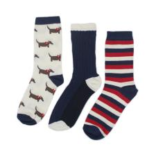 totes Ladies 3 Pack Novelty Day Socks Sausage Dog