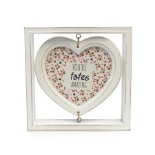 totes Wooden Heart Picture Frame Heart