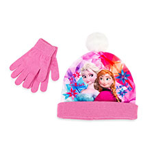 Children's Frozen Hat & Glove Set Pink