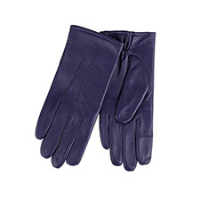 Isotoner Ladies Waterproof 3 Point Leather Gloves Midnight