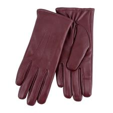 Isotoner Ladies Three Point Leather Glove Burgundy