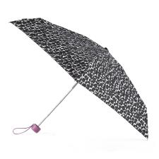 totes Compact Round Pink/Grey Animal Print Umbrella (5 Section)
