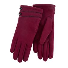 Isotoner Ladies Thermal Glove with Piping & Button Detail Burgundy