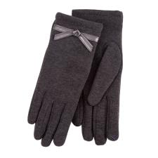 Isotoner Ladies Thermal Glove with Bow Detail Grey
