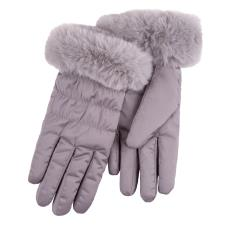 Isotoner Ladies Water Repellent Padded Glove Grey