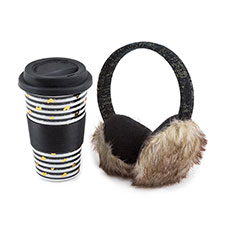 totes Ladies Ceramic Travel Mug & Earmuff Set