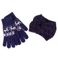 totes Ladies Headband & Glove Set Navy