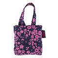 totes Navy Ditsy Floral Print Shopping Bag