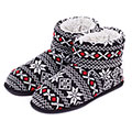 totes Mens Fair Isle Bootie Slippers