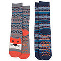 totes Boys Slipper Socks (Twin Pack)