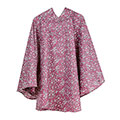 totes Fabric Poncho With Separate Pocket Raspberry Ditsy Floral Print