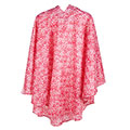 totes Fabric Poncho with Pocket Pink Ditsy