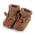 totes Unisex Knitted Reindeer Slippers