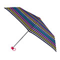 totes Supermini Multi Visual Stipe Print Umbrella