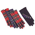 Isotoner Tartan Thermal Palm Gloves